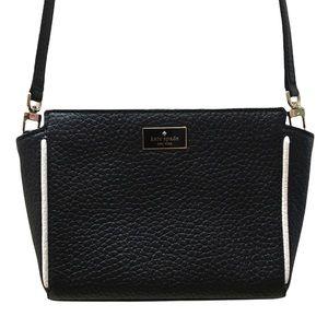 Kate Spade Black White Crossbody Purse Bag